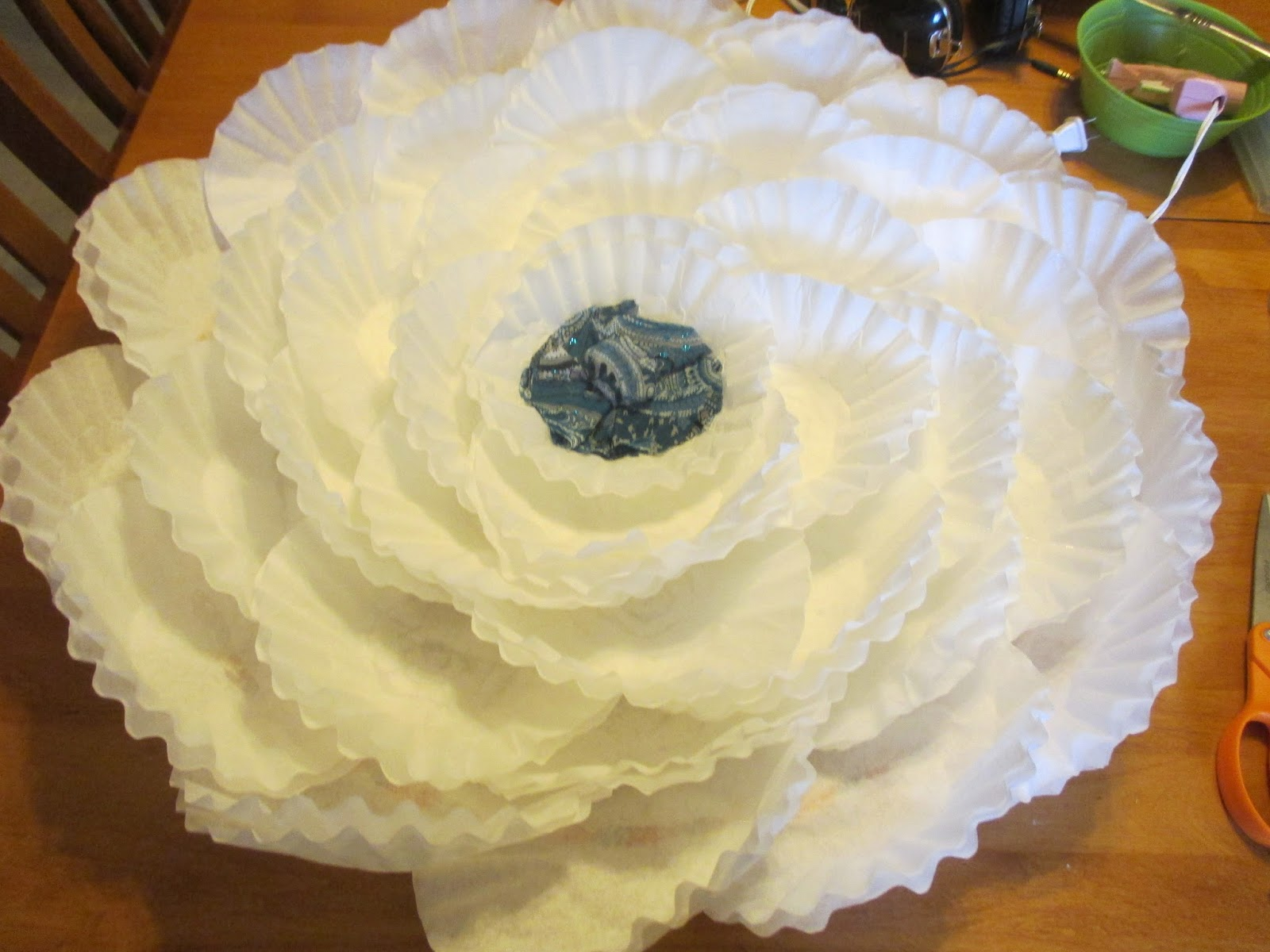 Diligently Working Hands Coffee filter flower