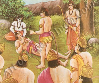Rama talk with Vali in the last stag of life