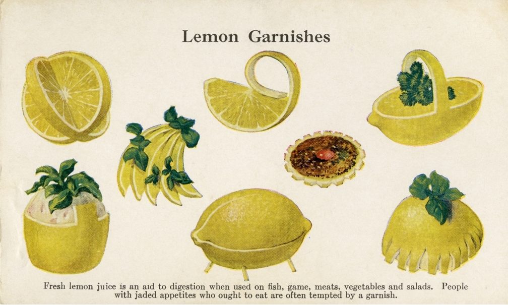 how to make lemon slice garnish
