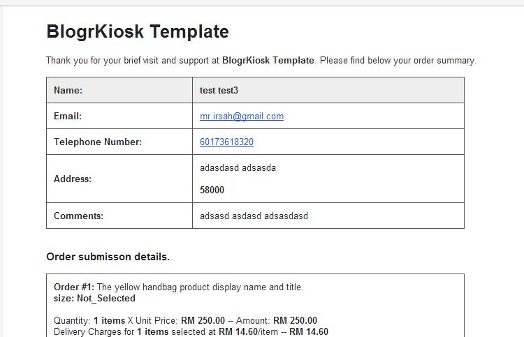 Email Invoice Template - Email invoice template