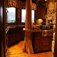 Cocina de ensue o decorada en madera for Cocinas de ensueno