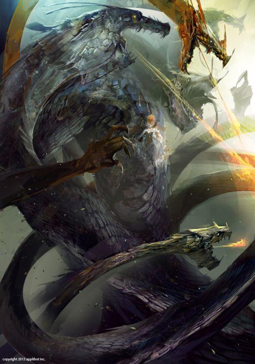 Richard Anderson flaptraps arte conceitual ilustrações pinturas games fantasia ficção científica Criatura bestial