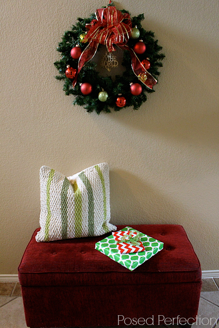 Decking the Halls Holiday Home Tour - Entry Bench