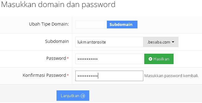 masukan domain hosting gratis idhostinger