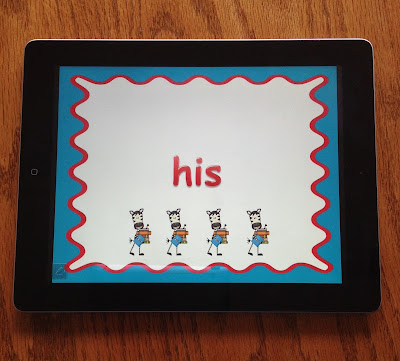 practicing sight words with technology
