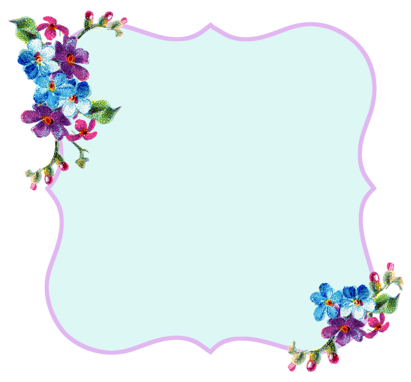 ♥Freebie Image: Pretty Lavender and Blue Printable Frame ♥ - Free ...