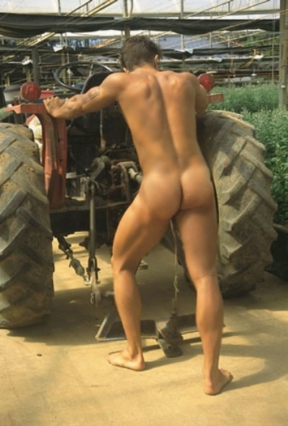 nude men on tractors