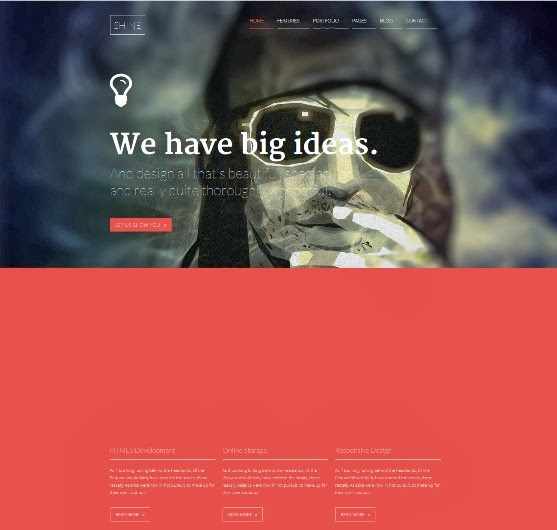 Shine Responsive WordPress Portfolio Theme