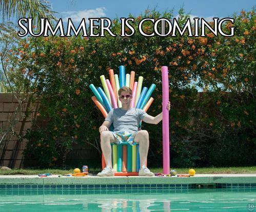 Summer Is Coming zoeira envolvendo a frase Winter is coming falada por Ned Stark na série Game Of Thrones (GoT)