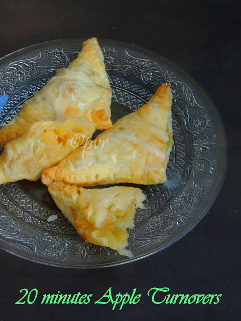 Quick apple turnovers, 20minutes Apple turnover