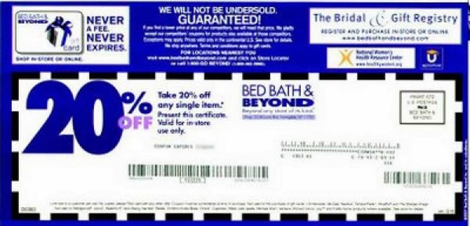 Bed Bath And Beyond Wedding Registry Discount