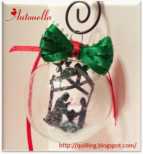 Nativity in Glass Ornament DIY from Antonella at www.quillling.blogspot.com