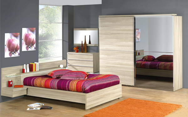 Id e d co petite chambre adulte for Decoration murale chambre adulte