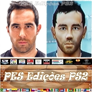 Claudio Bravo (Barcelona) e Chile PES PS2