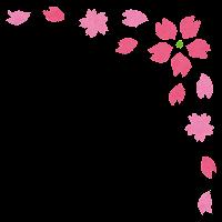かわいいコーナー素材のイラスト「桜」
