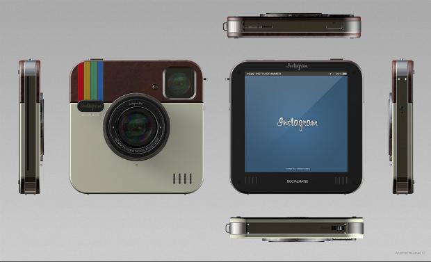 Instagram Socialmatic: Un diseño conceptual para una Cámara de Instagram Física