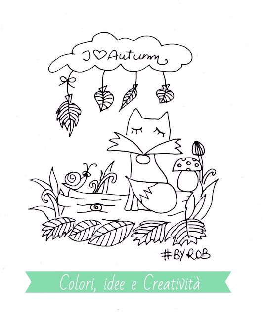 For you. Il disegno della volpe da colorare