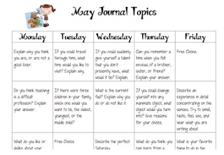 http://www.teacherspayteachers.com/Product/Journal-Writing-Calendar-September-June-501088