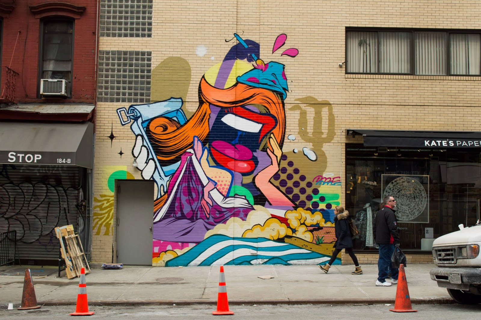 New Street Art Mural By Pose in New York City For The Lisa Project. 1