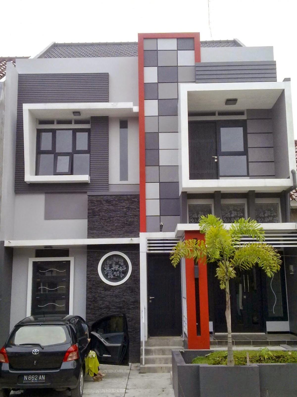 rumah minimalis warna elegan