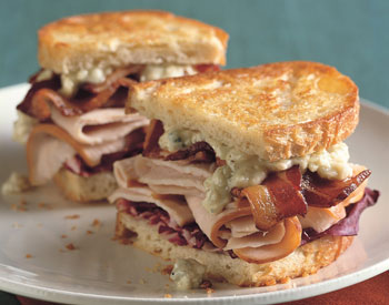 Delicious Turkey and Cheese Sandwich Image