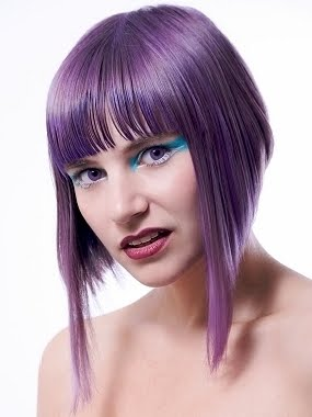 Purple Color Hair Funky Style shot hairstyle