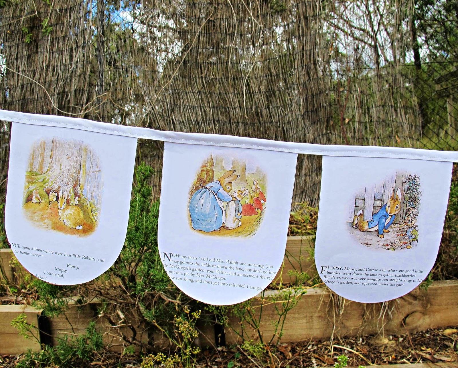 image peter rabbit bunting beatrix potter the tale of peter rabbit domum vindemia