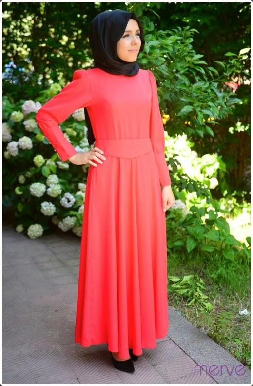 Dilber 2014/2015 Sonbahar Kış Tesettür Elbise Modelleri