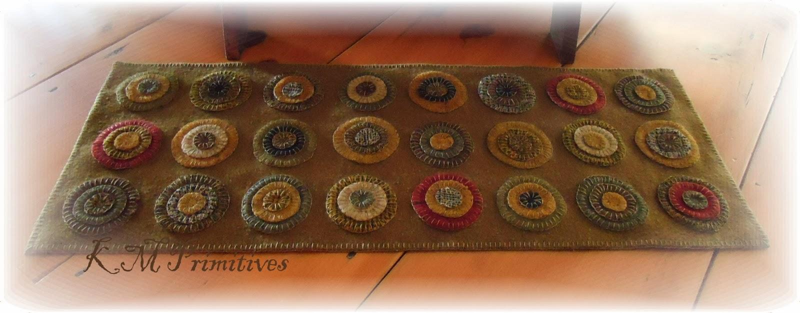 penny rug runner