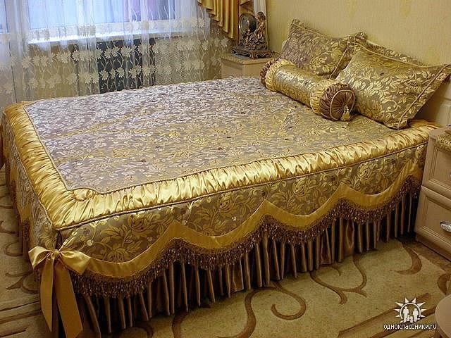 Пошив покрывал своими руками на кровать