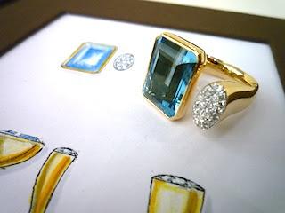 デザイン画から想像するよりはるかに美しいリングの蘇えった。