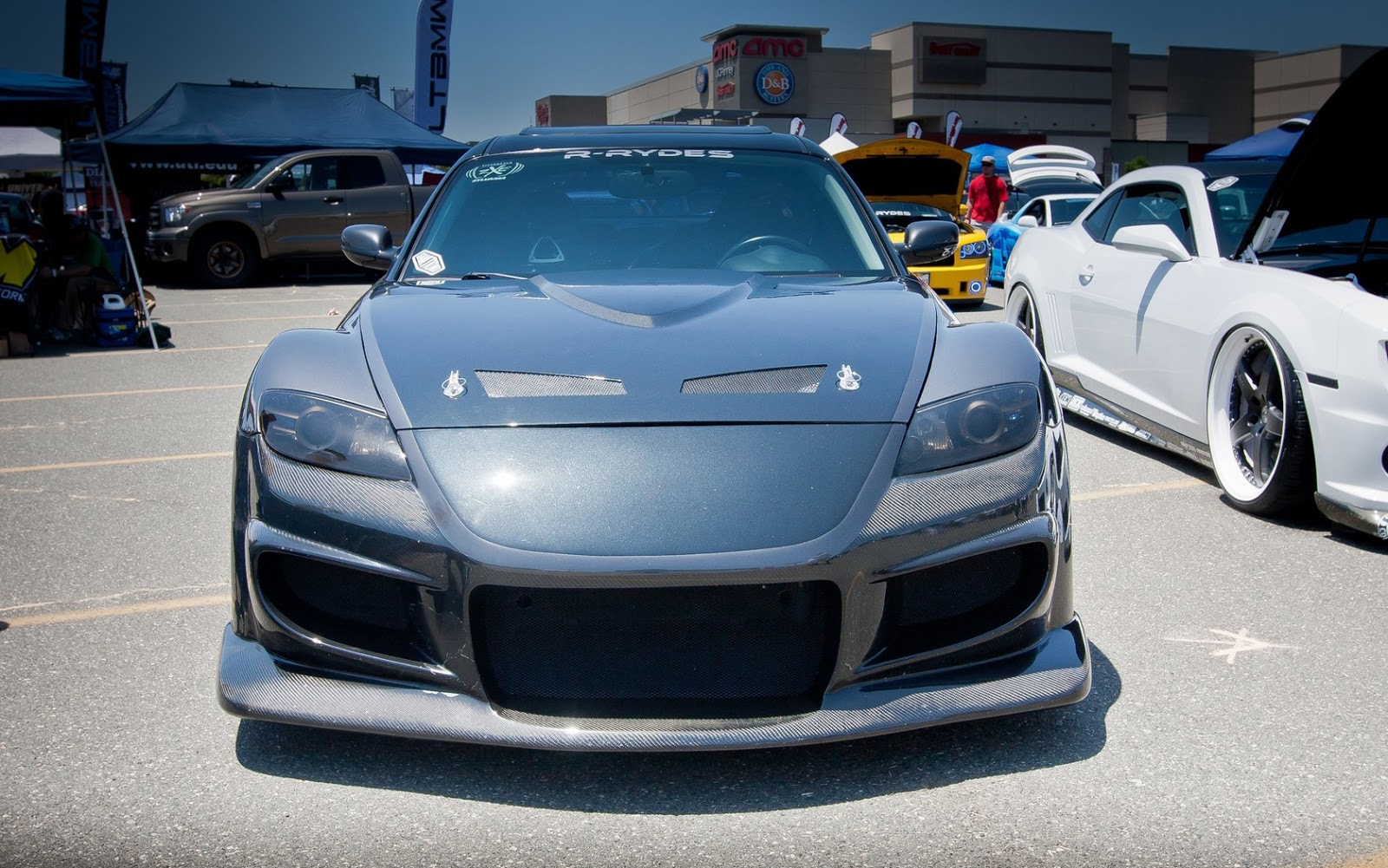 Tuned Mazda RX8 with Veilside Widebody Kit and Ace Wheels ...