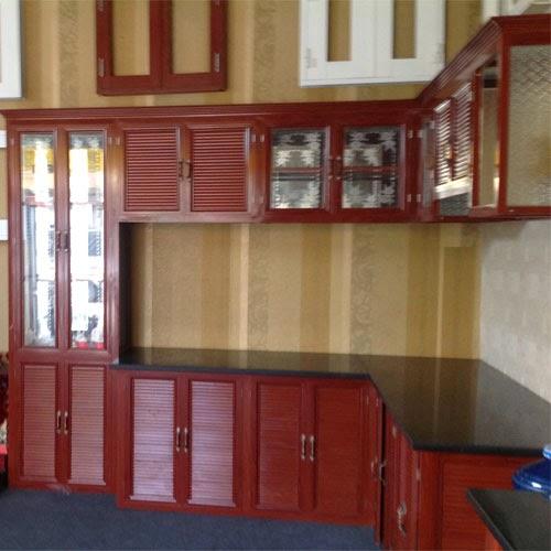 tủ bếp nhôm kính treo tường 5