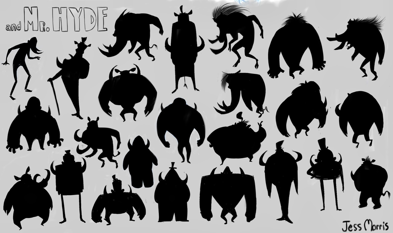 Here are the silhouettes I did Pixar Character Silhouettes