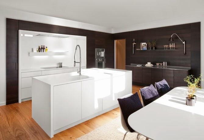 Colores y elementos que delimitan la cocina y el comedor for Cocinas abiertas al salon modernas