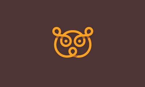 Overlapping technique Logo Bear