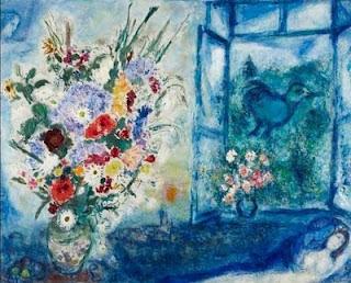 Flores delante de la ventana 1959, Marc Chagall