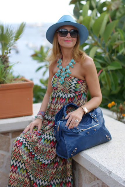summer look, panama hat, colorful maxi dress, fashion blogger italiana, Fashion and Cookies