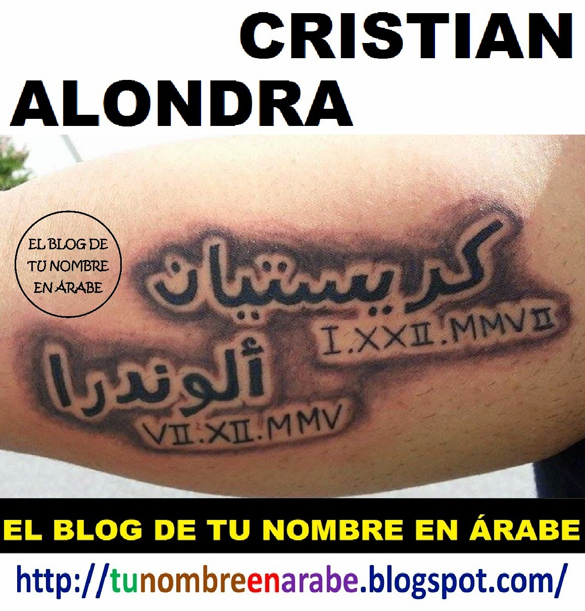 tatuajes de nombres CRISTIAN ALONDRA