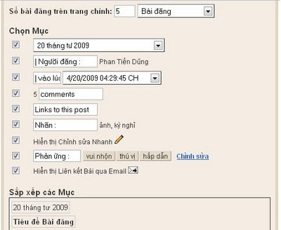 phần thân bài đăng Blogspot
