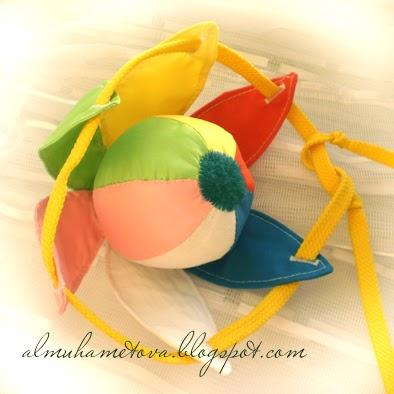 Выкройка шара из ткани 6 частей