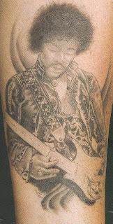 Tatuagens de música Jimmy Hendrix