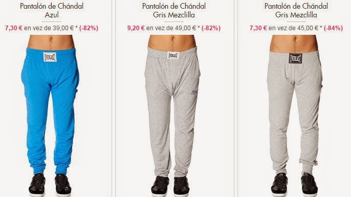 Ejemplos de pantalones de chándal de Everlast