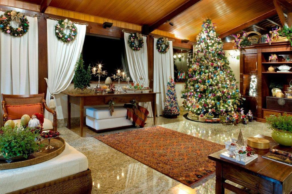 decoracao de sala natal : decoracao de sala natal:sala-arvore-de-natal-17-decoracao-de-natal-residencia-de-350-m-vira