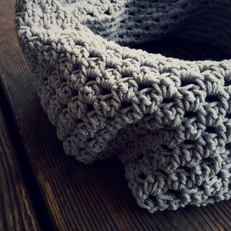 Domestic Bliss Squared Shell Stitch Crochet Cowl Scarf Free Crochet