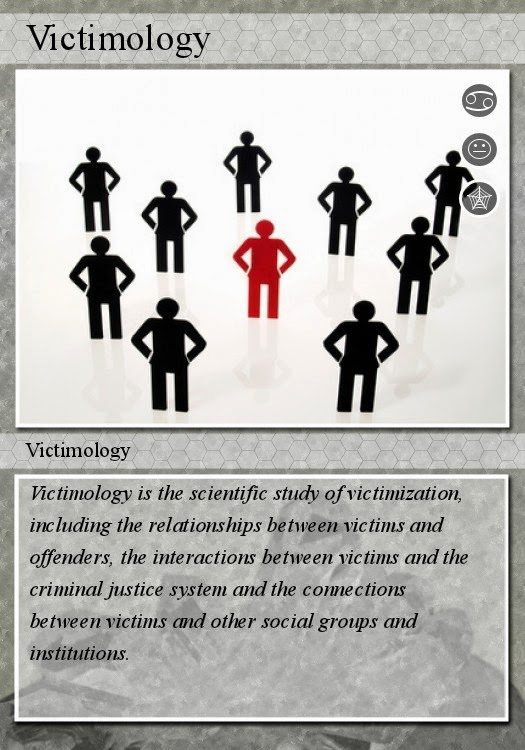 victimology criminology and victim Criminology is the study of crime victimology is the study of victims where there is crime, there are victims you need one for the other and vice versa criminology may concentrate on theories that focus on why offenders commit crime, how law h.