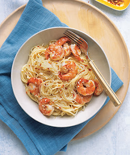 Gina's Italian Kitchen: Angel Hair Pasta with Spicy Shrimp