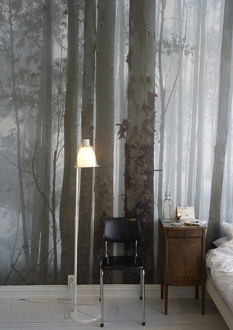 Madeleine 39 s view speaking of trees for Tree wallpaper bedroom