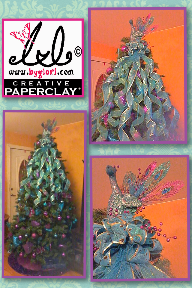 Creative Paperclay Air Dry Modeling Material Christmas Peacock