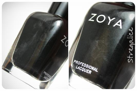 Zoya Raven black detail shimmer